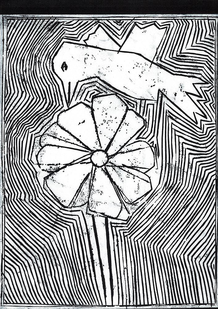 Bird and a flower
