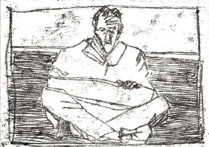 Self-portrait, sat drawing1
