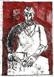 Self-portrait, sat drawing 3