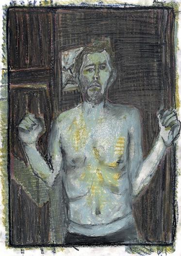 Self-portrait, bent elbows