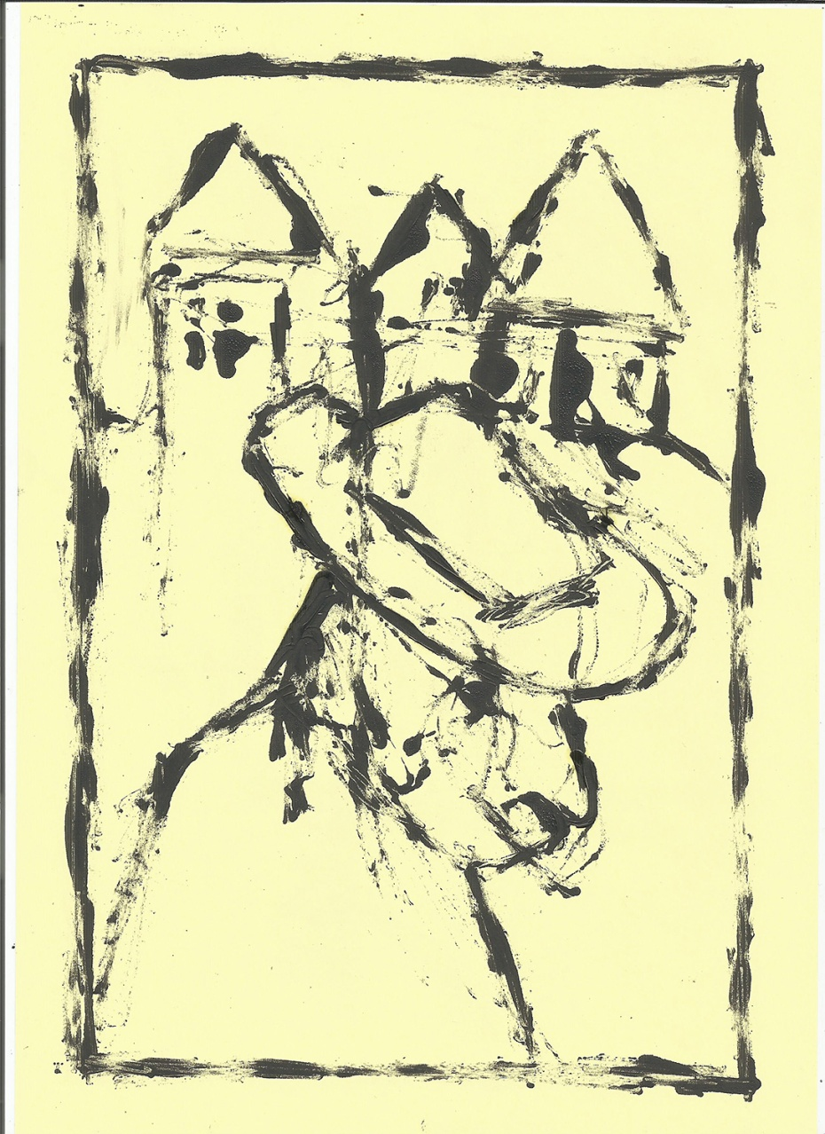 Man and houses - 1/2