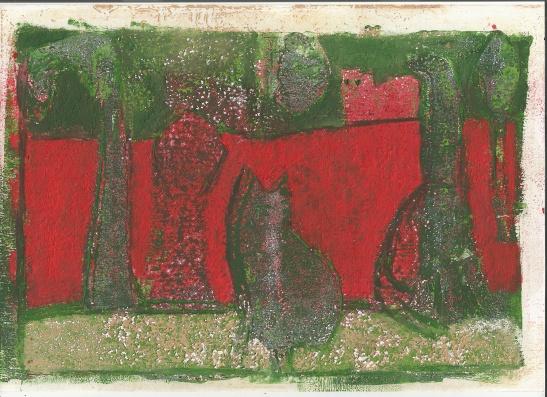 Cats in the garden 1