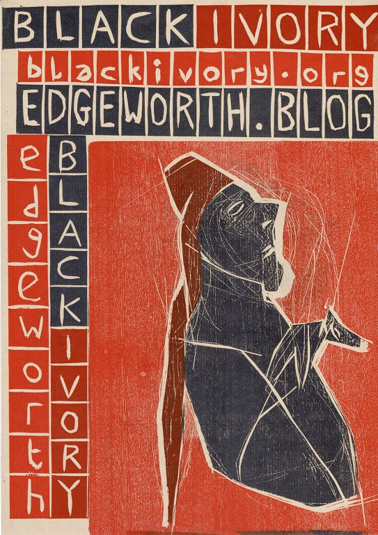 Red Black Ivory woodcut by Edgeworth.