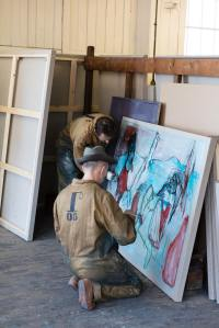 billy childish and edgeworth painiting - photo by rikard osterlund
