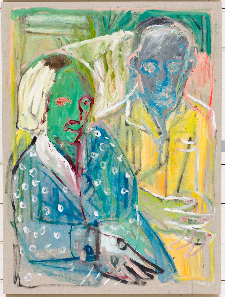 as yet untitled 37 (after photo of Larionov and Gonchorova) – by Heckels Horse (Billy Childish & Edgeworth)