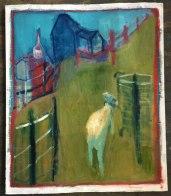 goat by a bin_1000