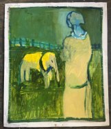 woman and an elephant_1000
