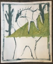 horse between two trees 1000